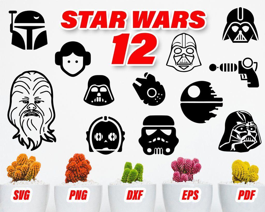 Star wars svg file, Star wars vector, Star wars decal