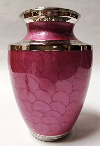 Hand Made in Aluminum Funeral Urn by Liliane for Human Ashes