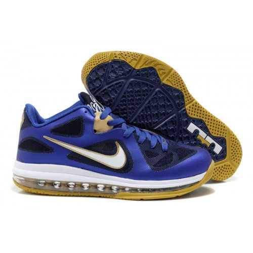f2fbd93b515 510811-402 Nike LeBron 9 Low Entourage Game Royal University Gold Midnight  Navy G06020