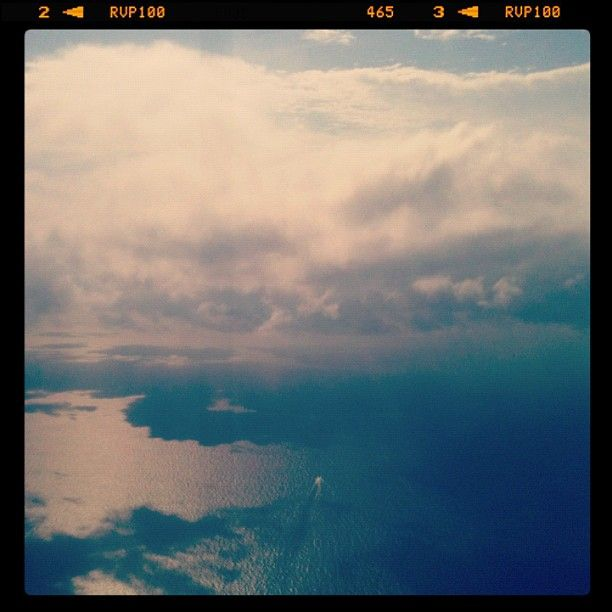 Sea, Sky, and Clouds.  (Kalimantan, Indonesia)    Taken from Sikorsky S76