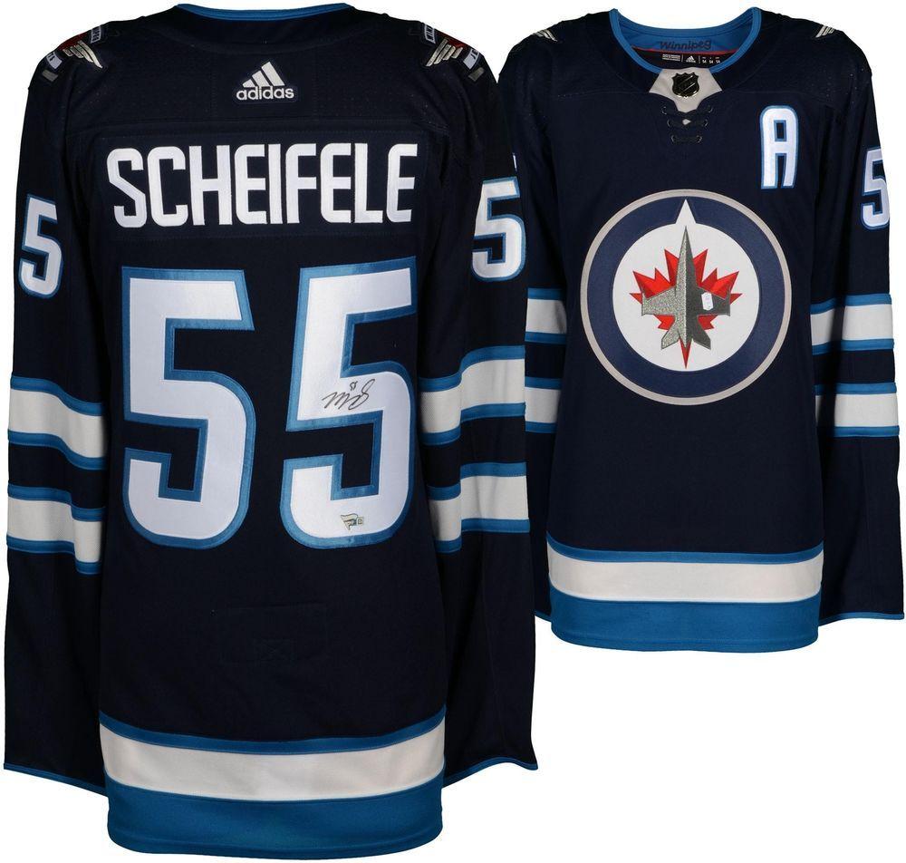 72238ad075c66 Mark Scheifele Winnipeg Jets Autographed Navy Adidas Authentic Jersey