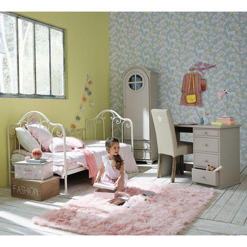 Maison Du Monde Letti Per Bambini.Letto Per Bambini Color Avorio In Metallo 90x190 Cm Home