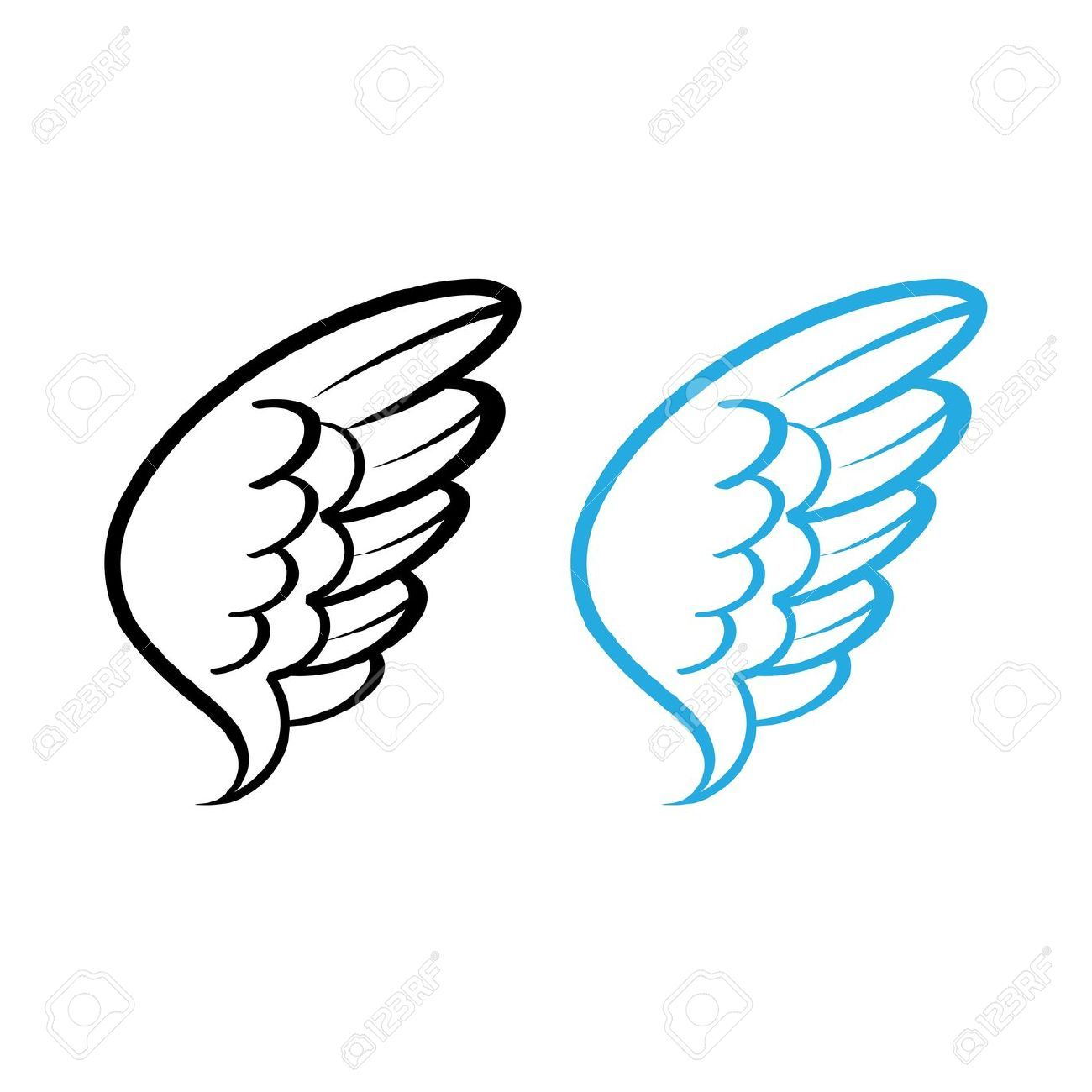 Simple Illustration Of Angels Google Search Angel Wings Clip Art Bird Wings Vector Illustration