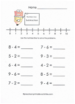 math worksheet : subtracting integers using number line worksheets  adding and  : Subtracting Numbers Worksheets