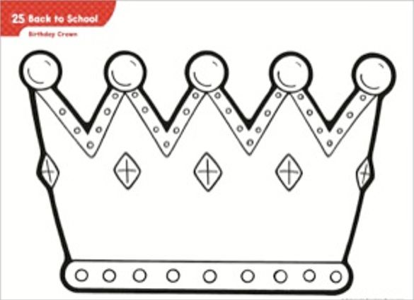 Birthday Crown Template u2013 18+ Free PSD, EPS,In Design Format - crown template