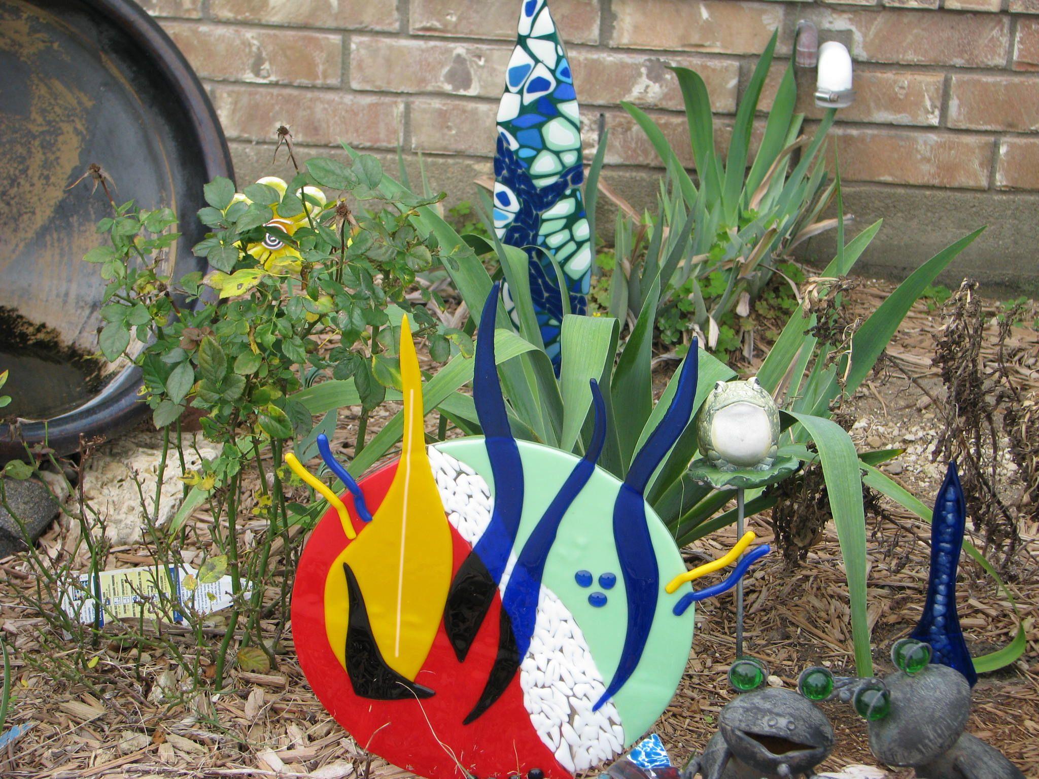 Fused glass yard art by jill mooney yard art fused