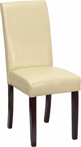 Super Ivory Leather Parsons Chair | Parsons chairs, Ivory and Kitchens AA44