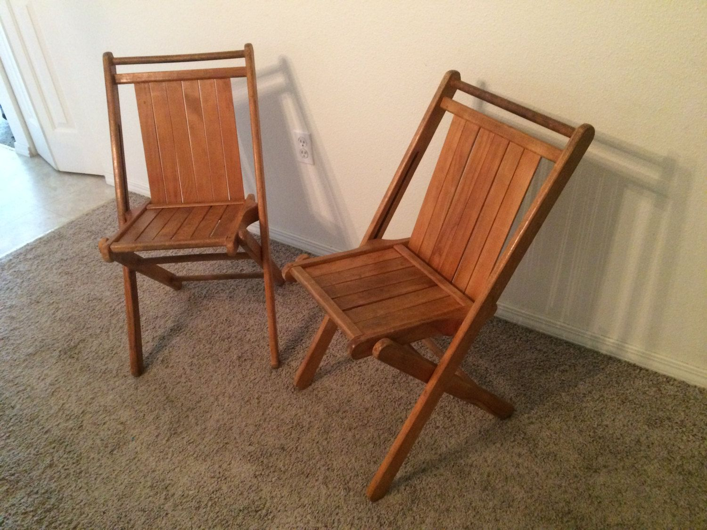 Mid Century Folding Chair Stuhle Klappstuhl Und Holz