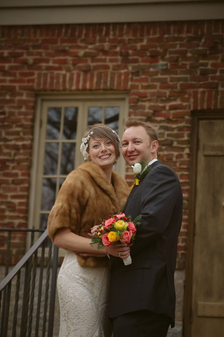 Jewel Tones Wedding & her lace sheath wedding dress for a Quirky Rustic elegance wedding
