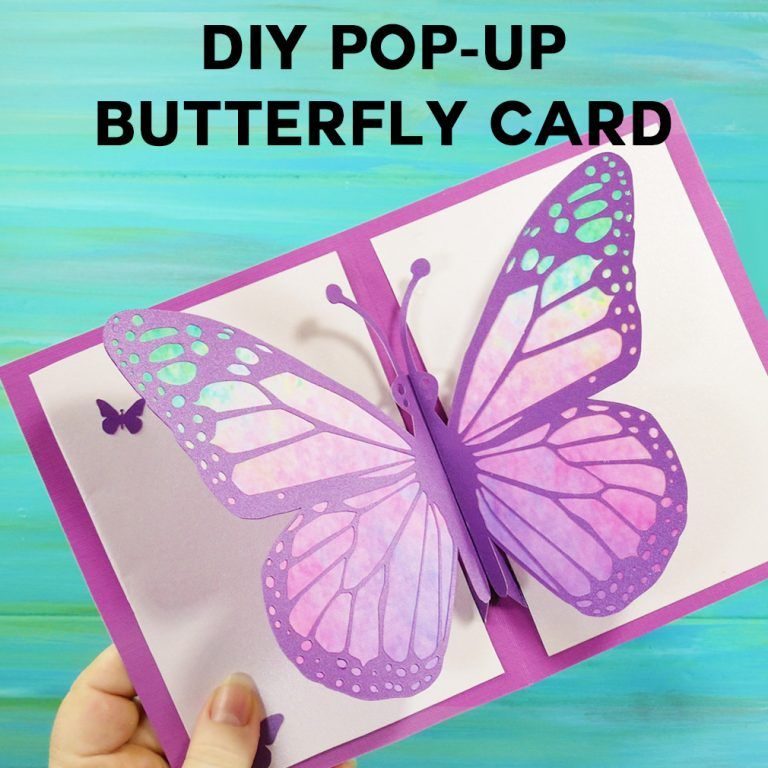 Easy Butterfly Card Diy Pop Up Tutorial Jennifer Maker Diy Pop Up Cards Pop Up Card Templates Butterfly Cards