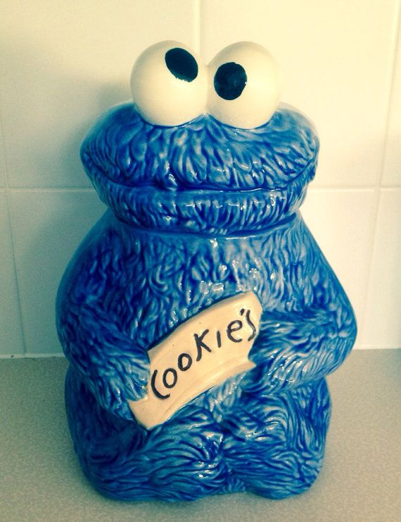 Large Cookie Monster Cookie Jar Vintage Etsy Cookie Monster Cookie Jar Cookie Jars Vintage Monster Cookies