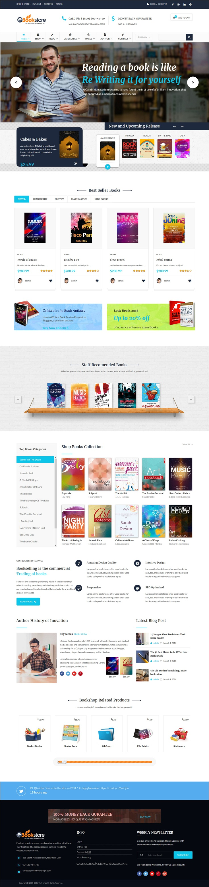 Book store is beautifully design responsive 2in1