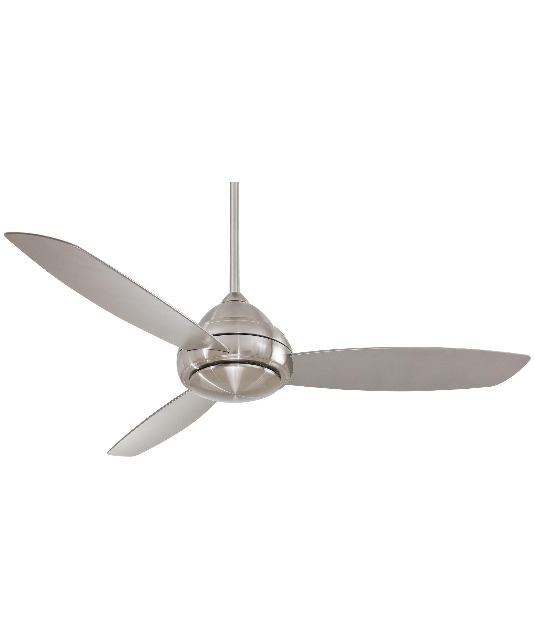 Concept 1 Light Ceiling Fan in Brushed Nickel Wet