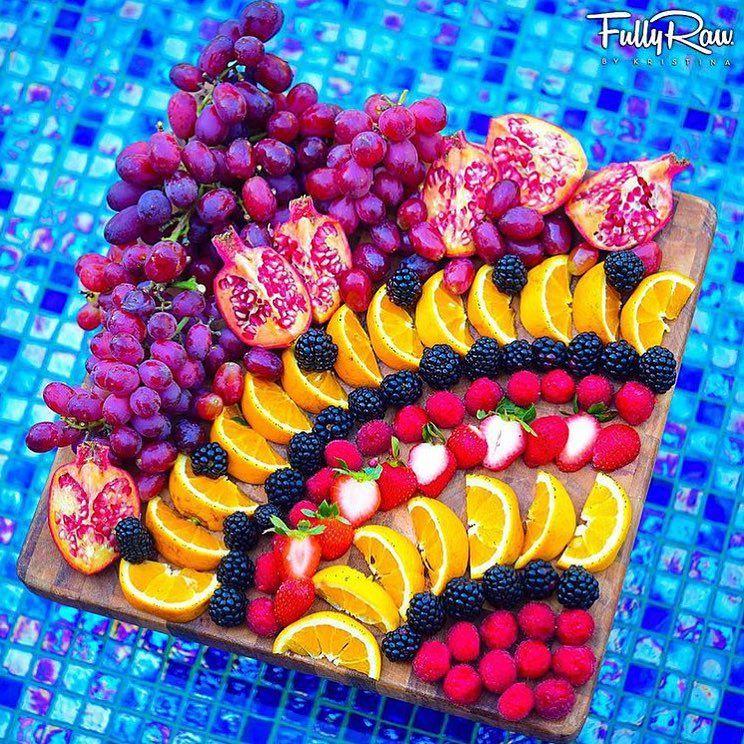 """Best Of Vegan on Instagram: """"Fruit platter by the unicorn goddess @fullyrawkristina"""