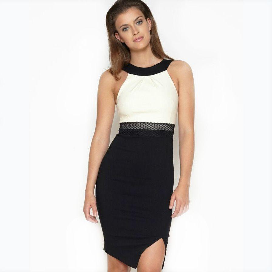 2015 spring new European style Halter Neck dress split ends Slim sleeveless brief dresses