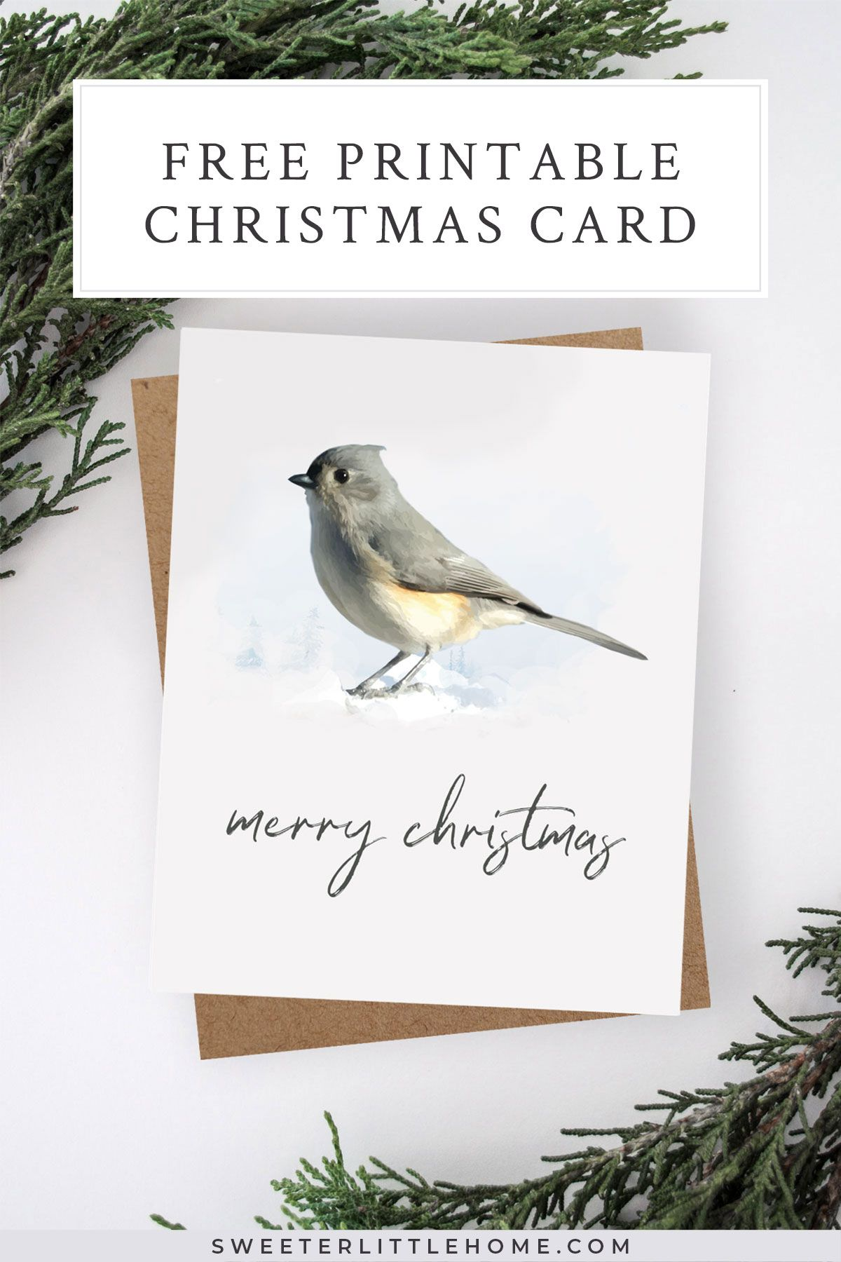 picture relating to Free Printable Religious Christmas Cards referred to as Cost-free printable watercolour fowl Xmas card Xmas