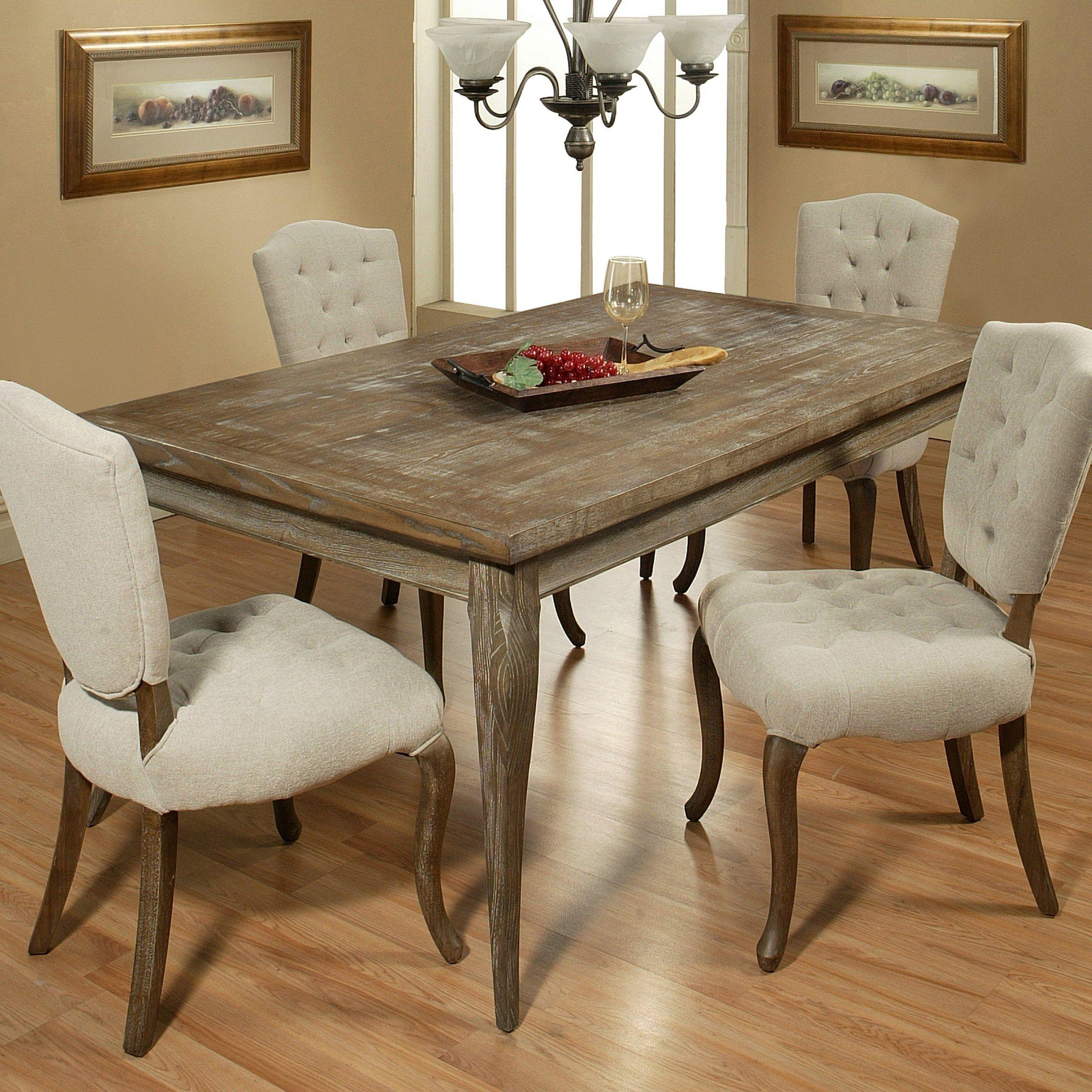 Pastel Utopia Rectangular Dining Table Distress Charcoal