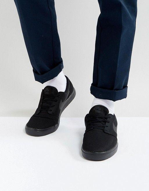reputable site 9cec3 e4cd6 Nike SB Portmore II Ultralight Trainers In Black 880271-001 at asos.com
