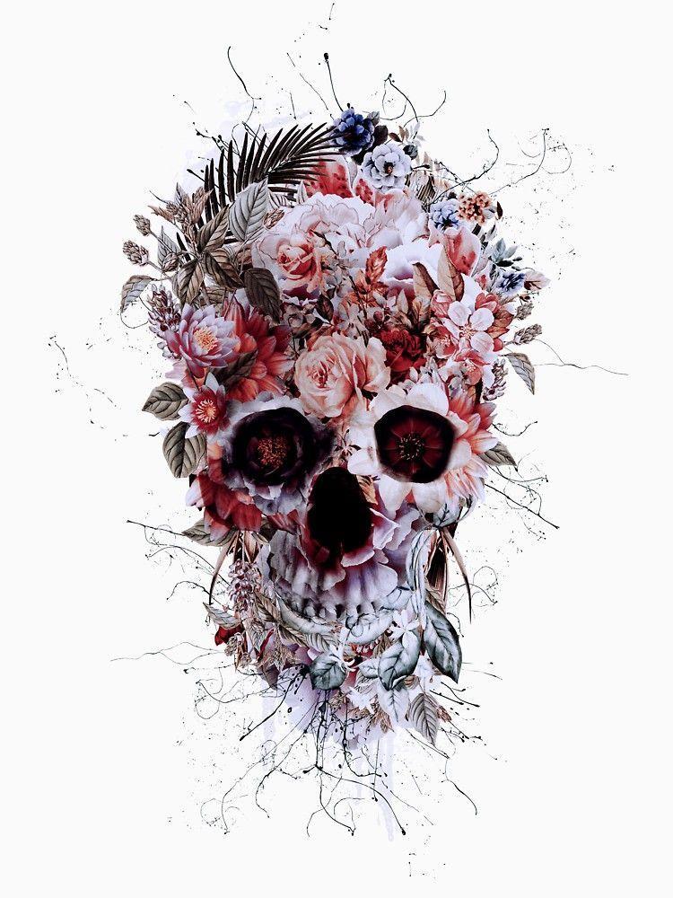 Tattoo Sugar Skull Swirl Car or Truck Window Laptop Decal Sticker