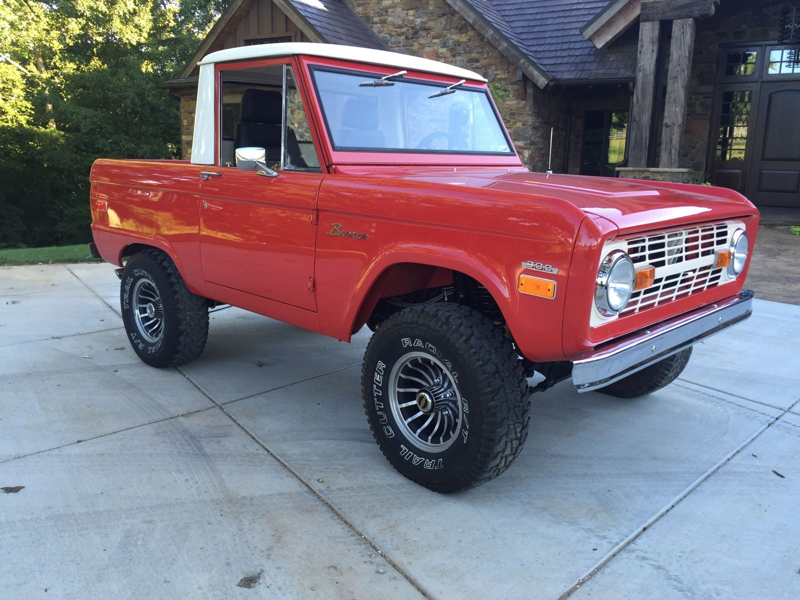 1975 Ford Bronco Rangoon Red With Turbines Vintage Off Road 1980 Frame