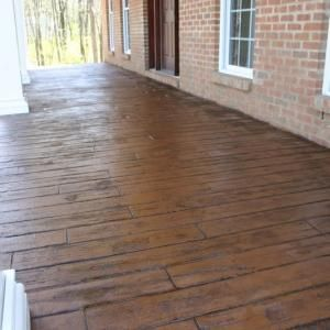 For Our Front Porch Stamped Concrete Porch Pattern Is Wood Plank