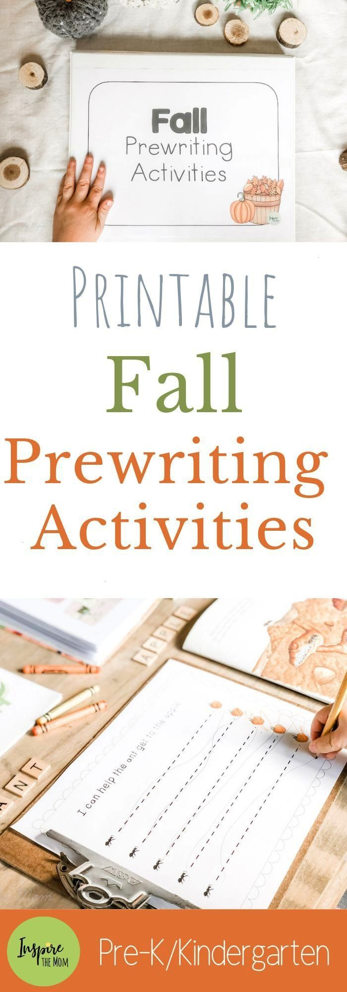 Prewriting Activities - Inspire the Mom Fall Prewriting Activities! Basic strokes, shapes, patterns