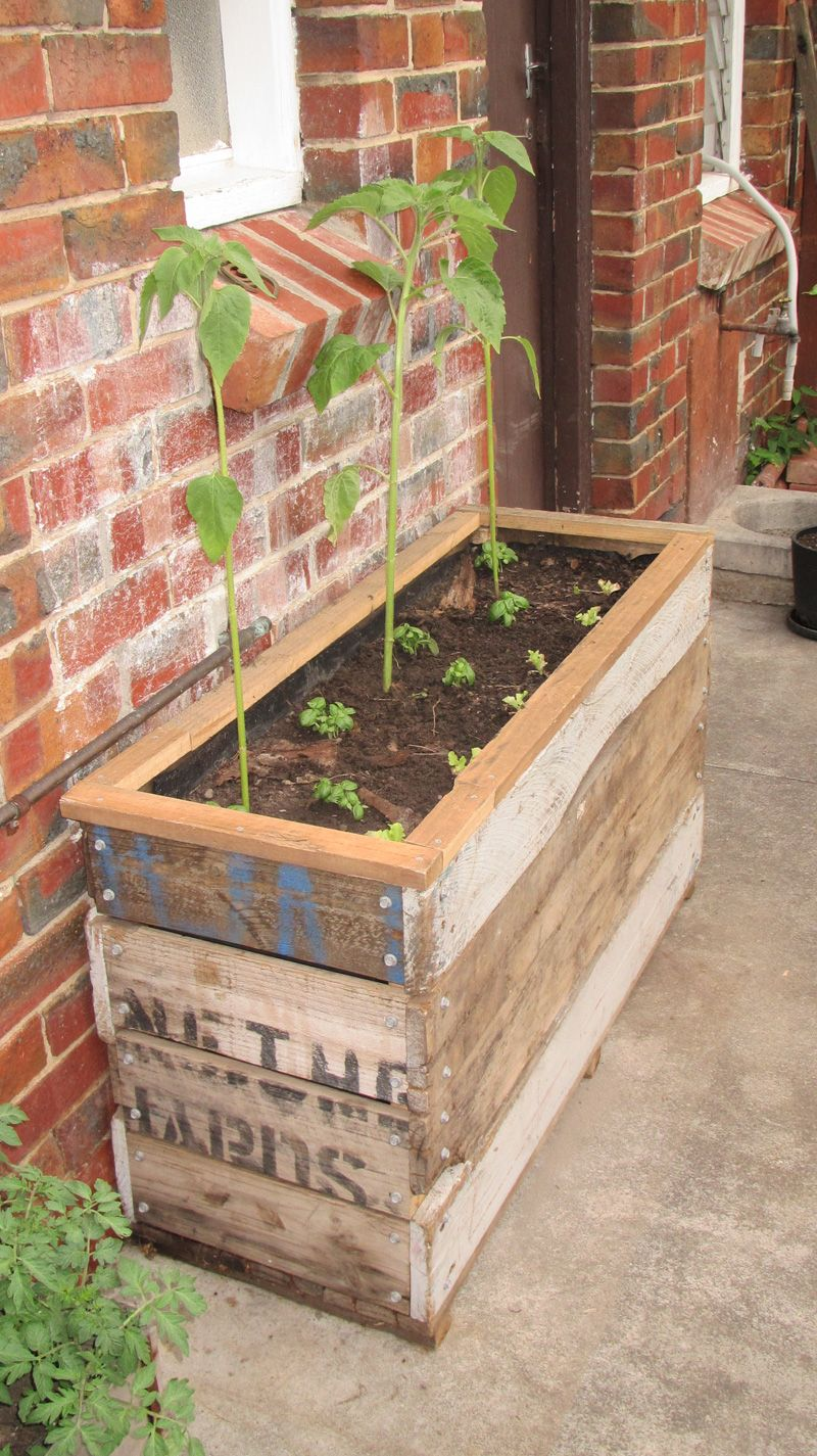 Recycled Timber Planters Gardening - Growing