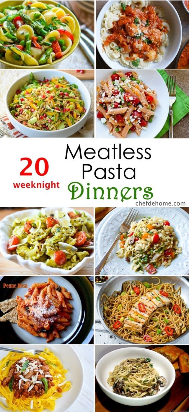 20 weeknight meatless pasta dinner ideas | healthy vegetarian