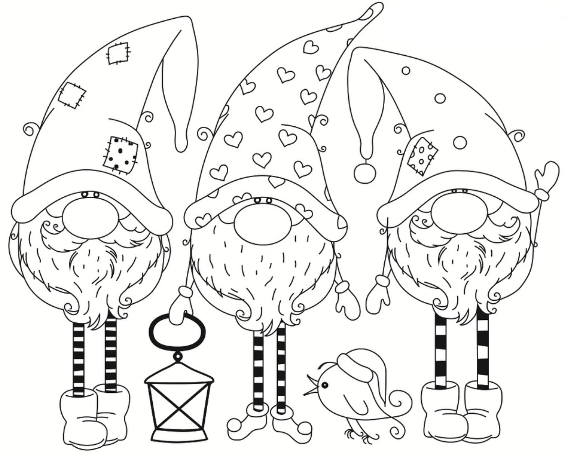 Pin By Milena Svrcinova On Omalovanky Christmas Coloring Pages Christmas Drawing Gnomes Crafts