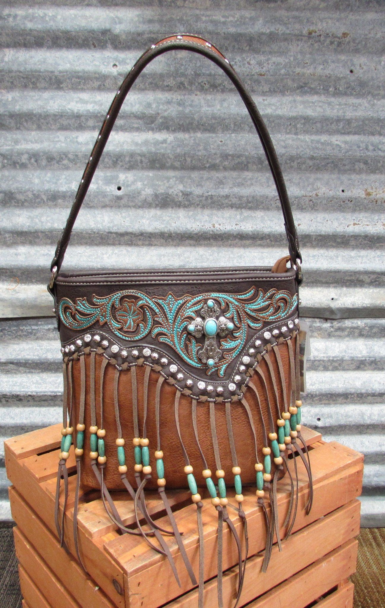 Montana West Beaded Fringe Purse