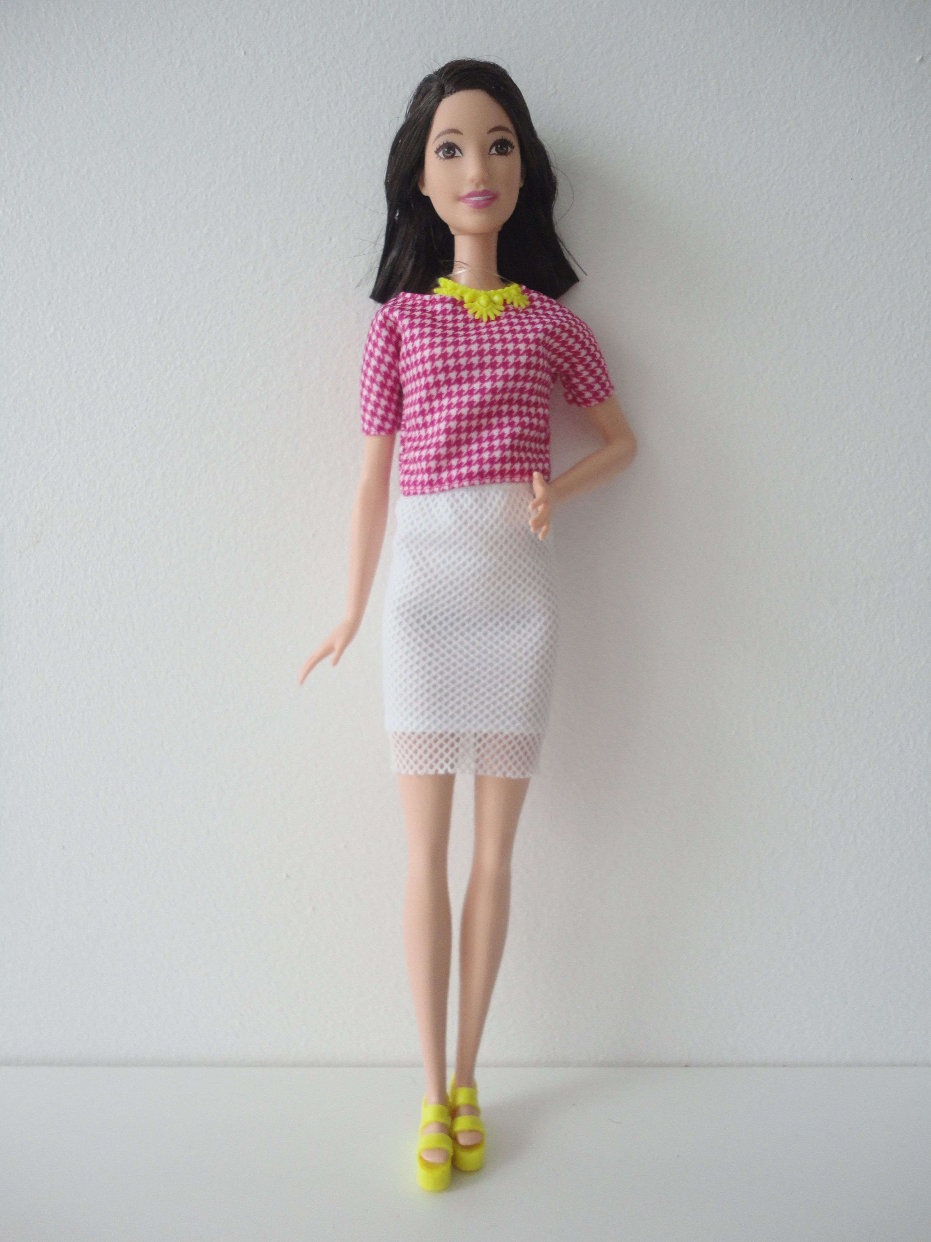 Barbie Fashionistas Barbie Doll # 30 White and Pink Pizzazz Tall New