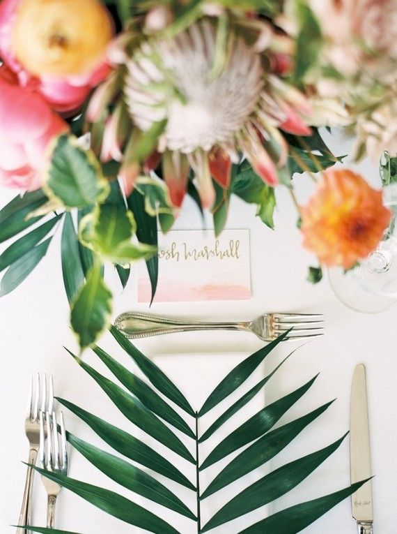 Tropical pink and white garden wedding in Dallas | Tropical Wedding ...