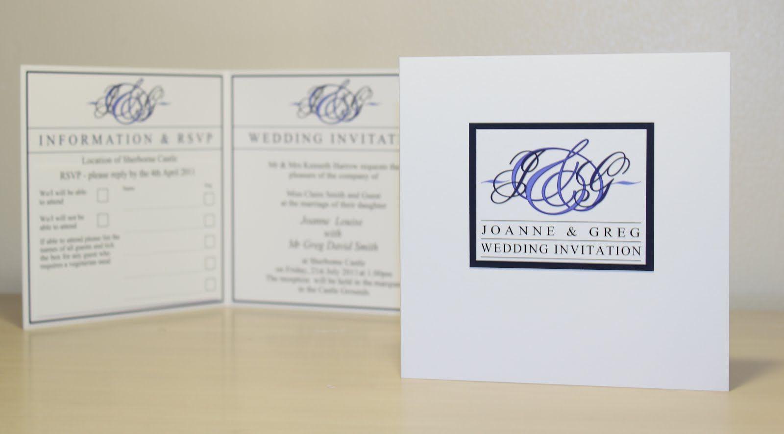 genoa bifold wedding invitations in blue blue wedding detail