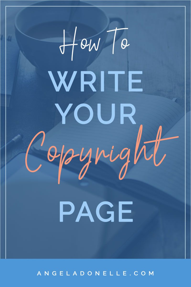 Writing A Copyright Page For Your Book Copyright page