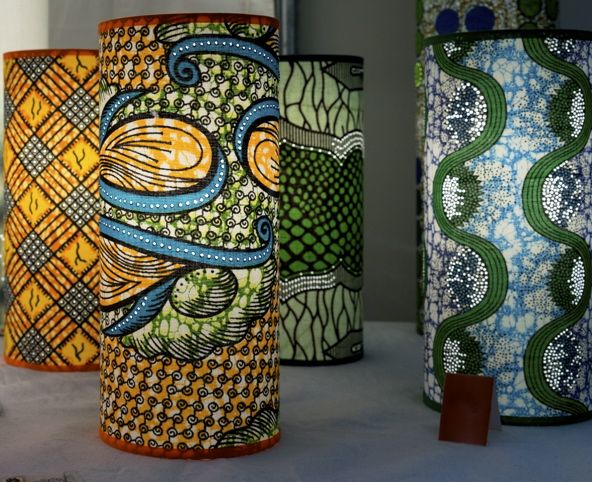 lampe wax by luminaires florence doudat cr ations african prints and wax in d co ethnique and. Black Bedroom Furniture Sets. Home Design Ideas