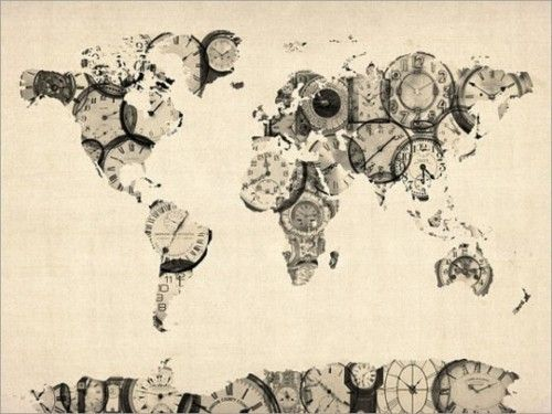 world map of clocks by artpause available for sale on etsy here