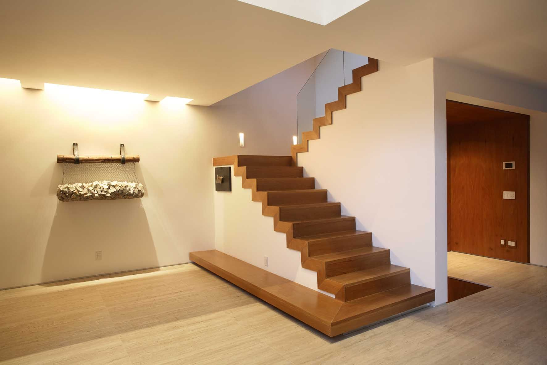 Foxy featured wooden staircase design with a turn lane in for Interior staircase designs