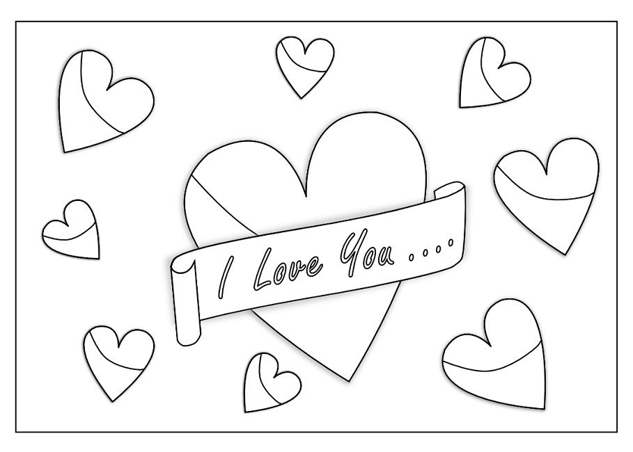 i love you coloring pages printable | Love | Pinterest | Book folding