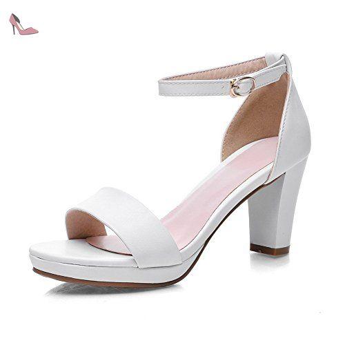 balamasa pour femme Style Européen massif Matière souple Sandales - Blanc -  blanc, 35.5  Amazon.fr  Chaussures et Sacs 4ef9afc57633