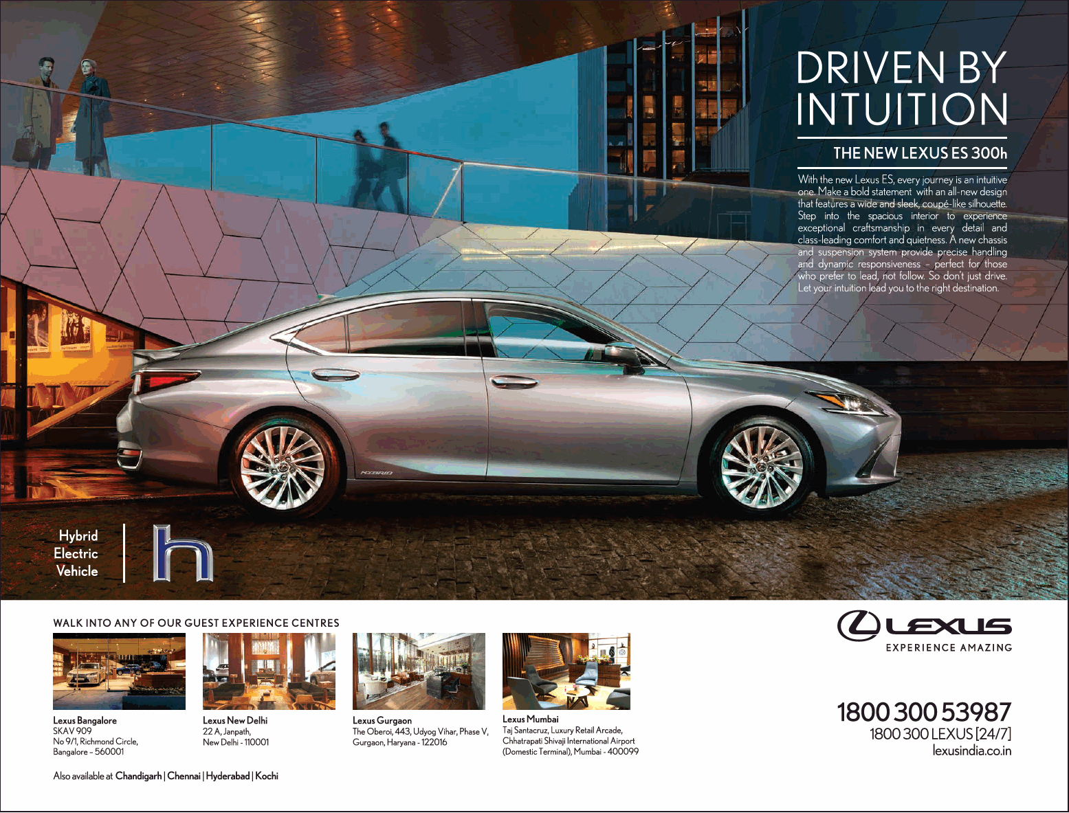 Lexus Car Hybrid Electric Vehicle Ad Times Of India Bangalore Check Out More Car Advertisement Collection At Https Www Advertgal Lexus Cars Hybrid Car Lexus