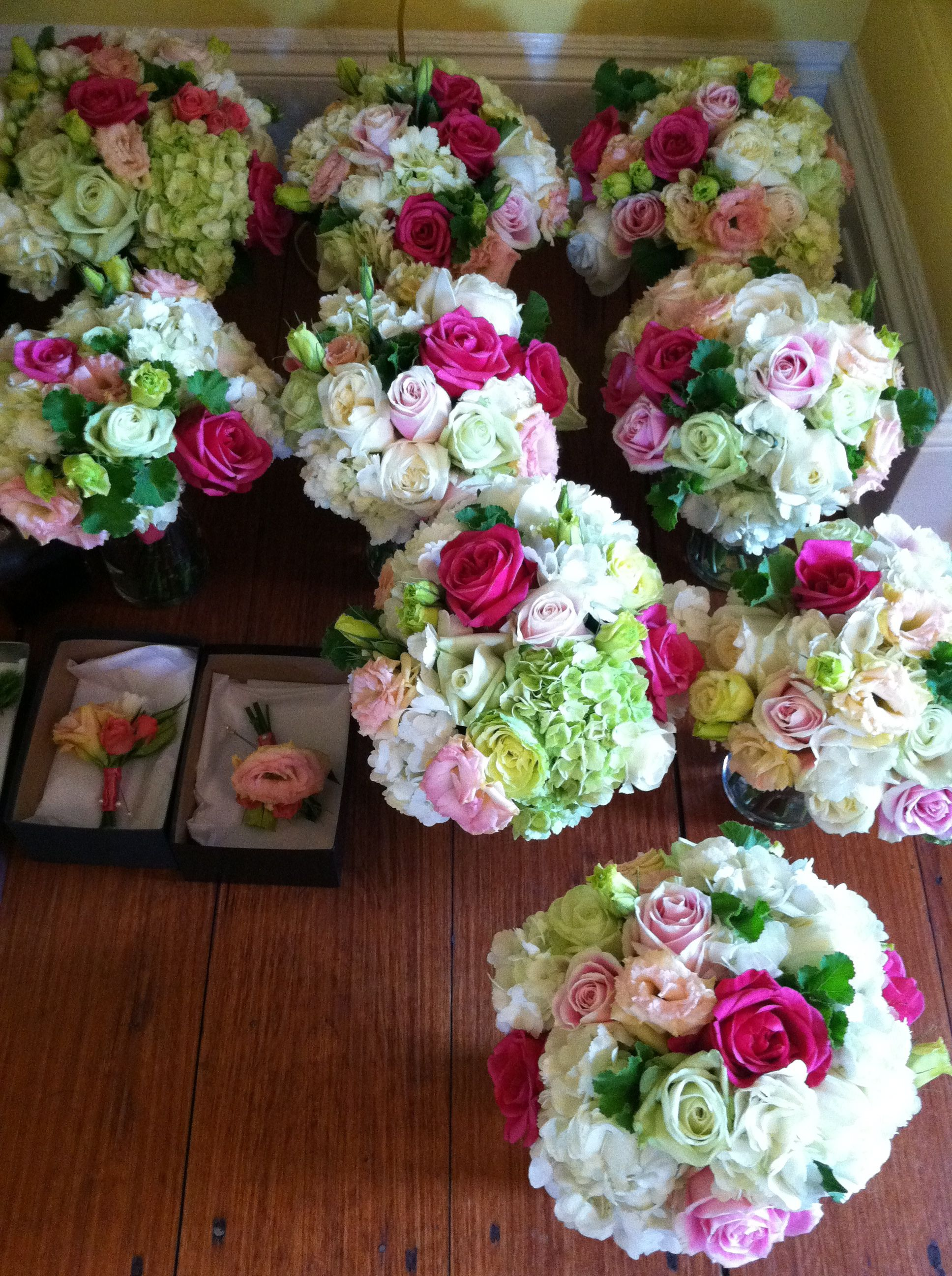 Pink And Green Wedding Bouquets Pink And Green Wedding Flowers