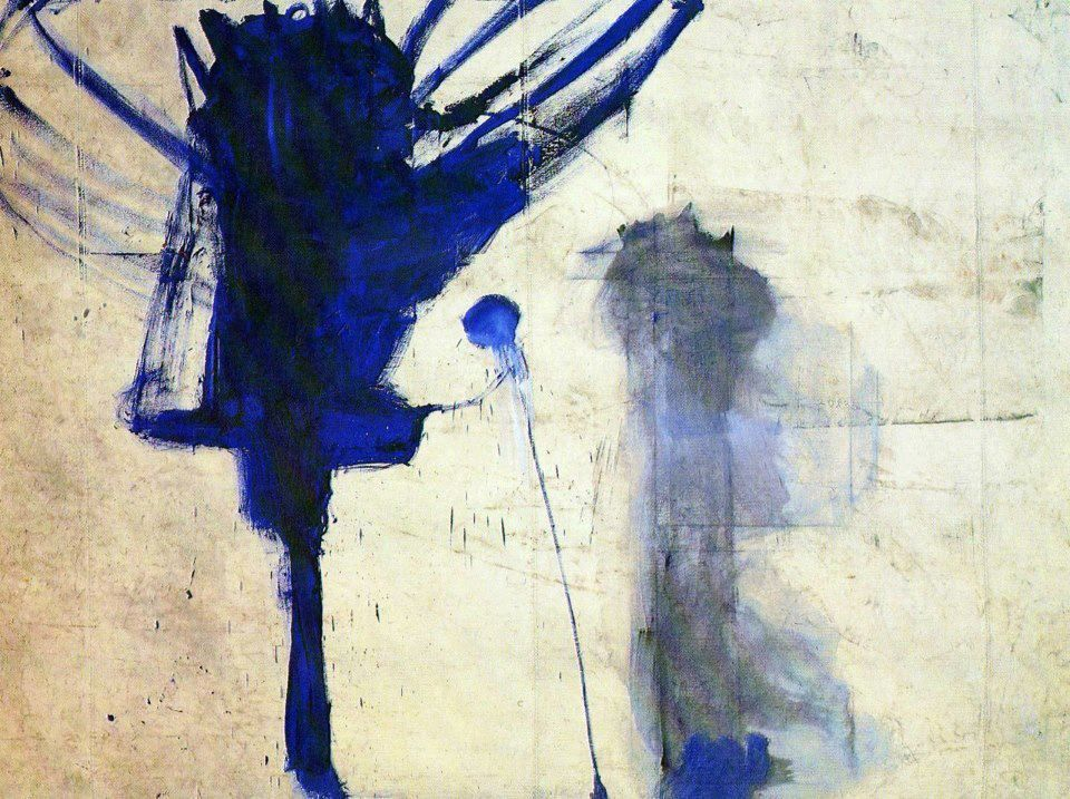 Julian Schnabel, Portrait of God, 1981, Oil and Wax on Tarpaulin, 274 x 366cm, Private Collection