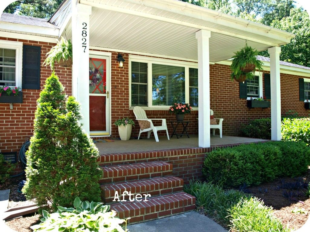 Front porch without railing come on in pinterest