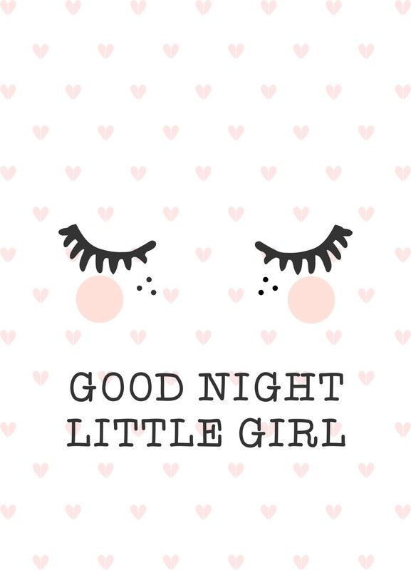 Poster Goodnight A3 Cute Art Poster Wallpaper Baby Posters