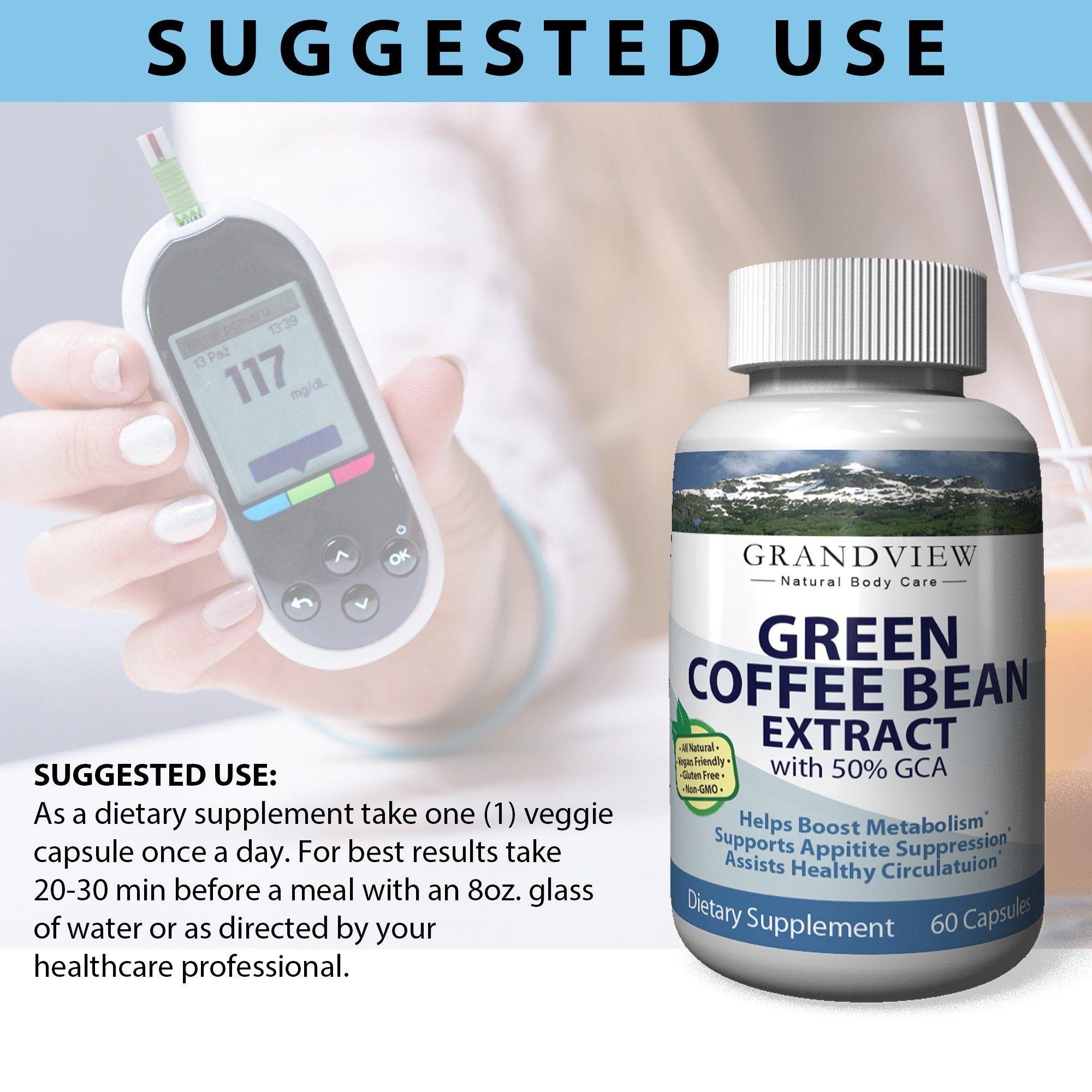 Green Coffee Bean w/GCA 800mg – 60 Capsules *** Read
