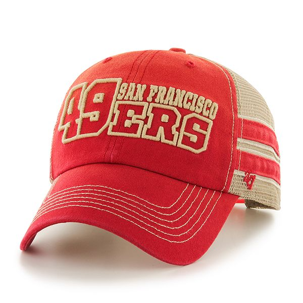 San Francisco 49ers Huron Clean Up Red 47 Brand Adjustable Hat  cac03e2028d2