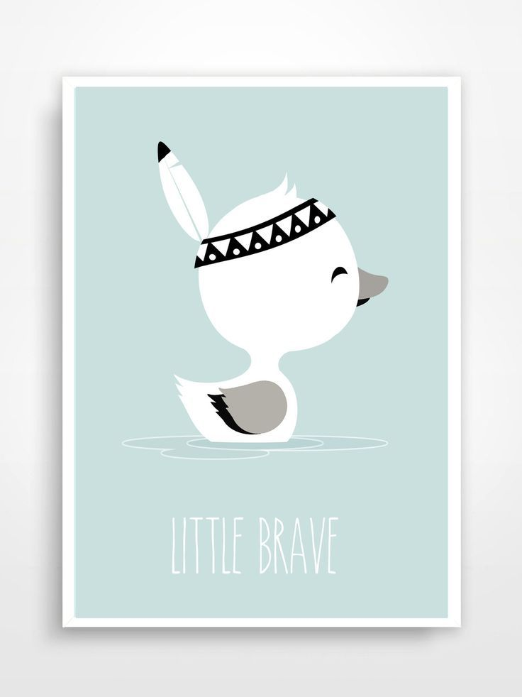 affiche d co pour chambre d 39 enfant little brave. Black Bedroom Furniture Sets. Home Design Ideas