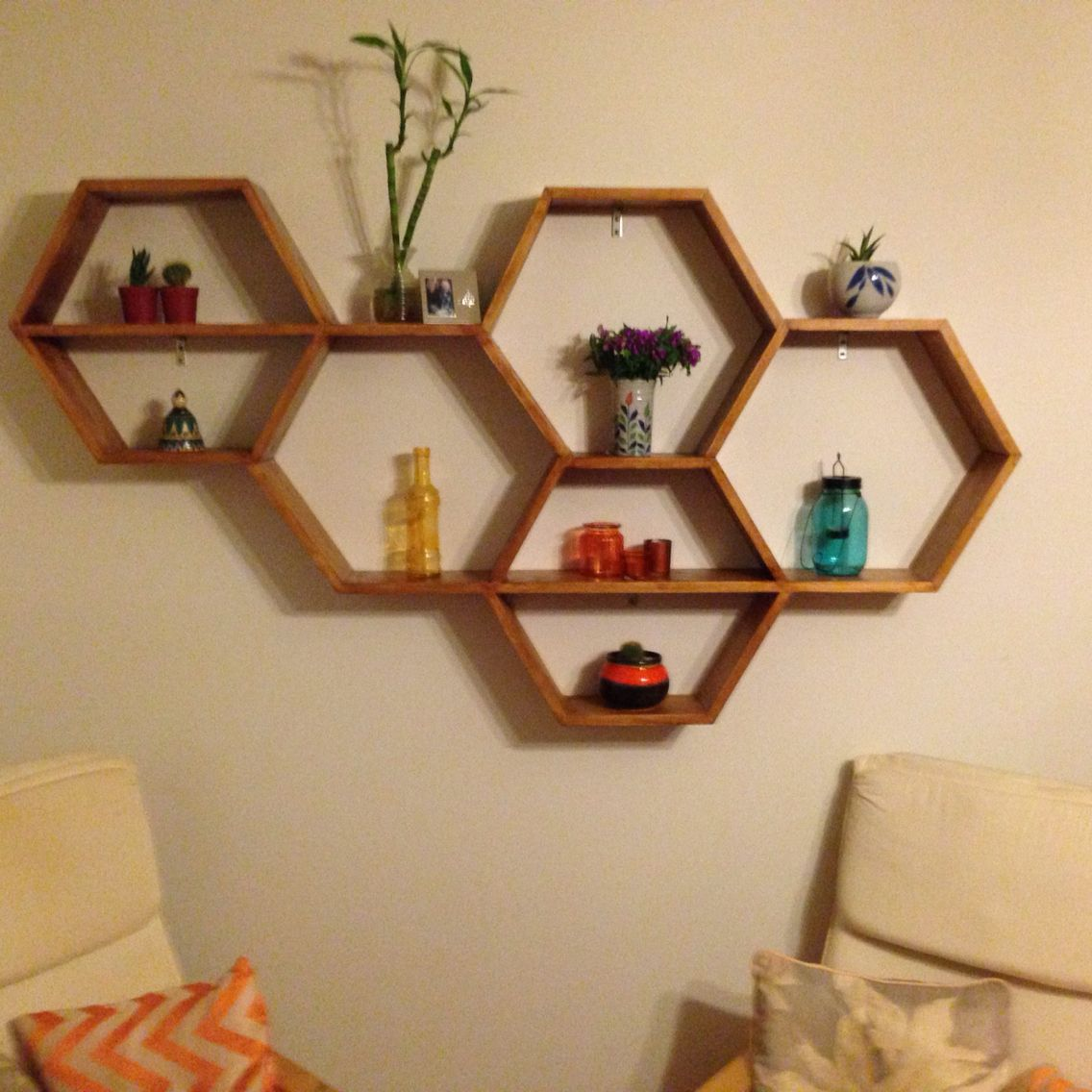 geometric honeycomb of hexagon minimalist floating shelves modern wall pin large shelf bookshelf shelving set