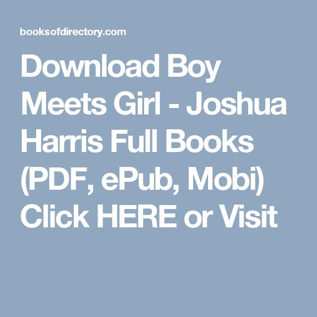 Boy Meets Girl Joshua Harris Epub