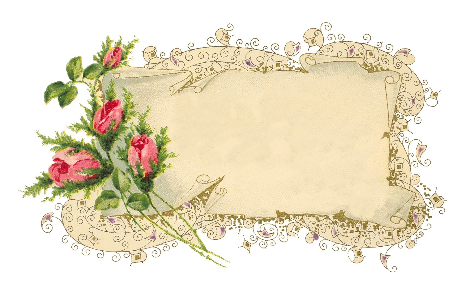 Victorian Scroll Pink Roses 1619x1033 Free Collection Of Images Clip Art Vintage Items To Freely Use In Arts Clip Art Vintage Vintage Cards Vintage Collage